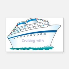 Cute Family cruise Rectangle Car Magnet