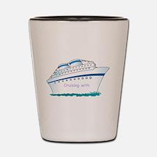 Cute Family cruise Shot Glass