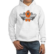 Multiple Sclerosis Fighter Wings Hoodie