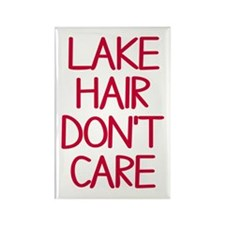 Ocean Lake Coast Boat Hair Don't Rectangle Magnet