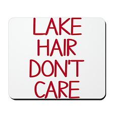 Ocean Lake Coast Boat Hair Don't Care Mousepad