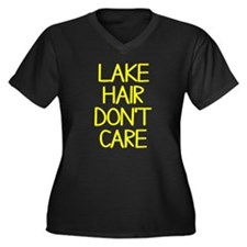Ocean Lake C Women's Plus Size V-Neck Dark T-Shirt