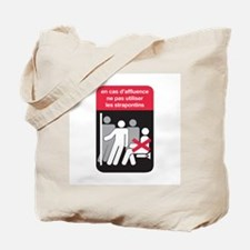 Don't Use Folding Chair, subway Paris (FR) Tote Ba