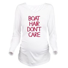 Ocean Lake Coast Boa Long Sleeve Maternity T-Shirt