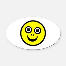 Funny Face Oval Car Magnet