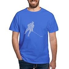Hockey Player Words T-Shirt