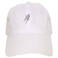Hockey Player Words Baseball Cap