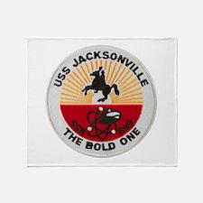 USS JACKSONVILLE Throw Blanket