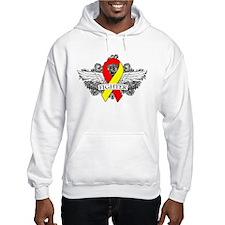 Hepatitis C Fighter Wings Hoodie