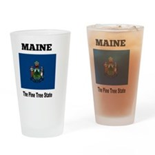 Maine, The Pine Tree State Drinking Glass