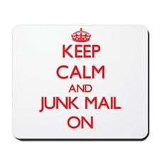 Keep Calm and Junk Mail ON Mousepad