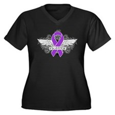 Cystic Fibrosis Fighter Wings Plus Size T-Shirt
