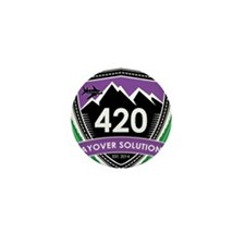 420 Layover Solutions Mini Button