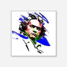 "Beethoven Square Sticker 3"" x 3"""
