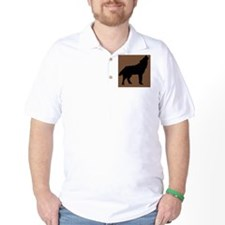 Wolf on Tan T-Shirt