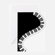 Piano Keyboard Greeting Cards