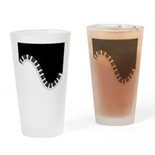 Piano Keyboard Drinking Glass