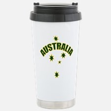 Australia Green and Yel Travel Mug