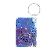 Blue Pollock-Style Keychains