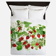 Ripe Strawberries from Provence Queen Duvet