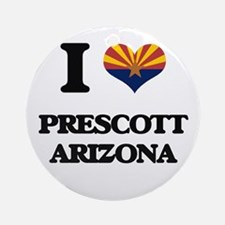 I love Prescott Arizona Ornament (Round)