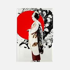 Japanese Girl Rectangle Magnet