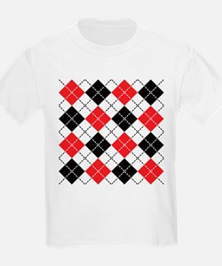 Dashed Argyle T-Shirt
