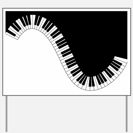 Piano Keyboard Yard Sign
