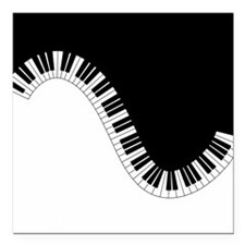 """Piano Keyboard Square Car Magnet 3"""" x 3"""""""