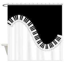 Piano Keyboard Shower Curtain