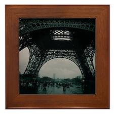 Cute Eiffel tower souvenir Framed Tile