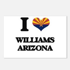 I love Williams Arizona Postcards (Package of 8)