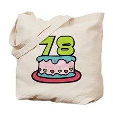 78 Year Old Birthday Cake Tote Bag