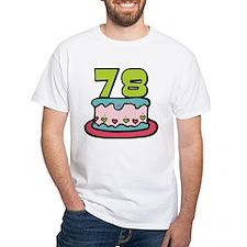 78 Year Old Birthday Cake Shirt