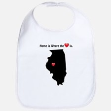 ILLINOIS Home is Where the Heart Is Bib