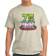 75 Year Old Birthday Cake T-Shirt