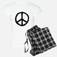 Rough Peace Symbol - Black Pajamas