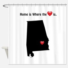 ALABAMA Home is Where the Heart Is Shower Curtain