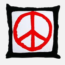 Rough Peace Symbol Throw Pillow