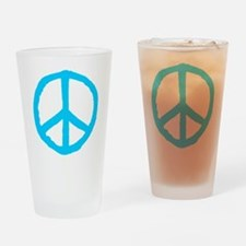 Rough Peace Symbol Drinking Glass