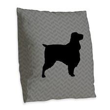 Field Spaniel Burlap Throw Pillow