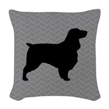 Field Spaniel Woven Throw Pillow