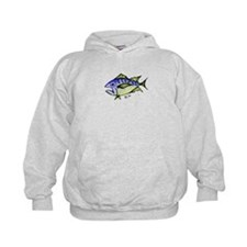 Tuna Abstract 3 fish Hoodie