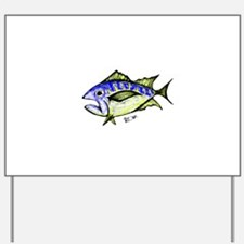 Tuna Abstract 3 fish Yard Sign