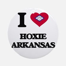 I love Hoxie Arkansas Ornament (Round)