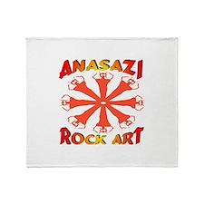 Anasazi Rock Art Throw Blanket