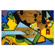 Still Life with a Guitar by Juan Gris Canvas Art