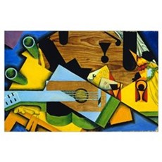 Still Life with a Guitar by Juan Gris Poster