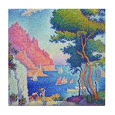 Capo di Noli by Paul Signac Tile Coaster