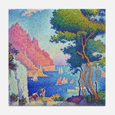 Capo di Noli by Paul Signac Tile Coaster